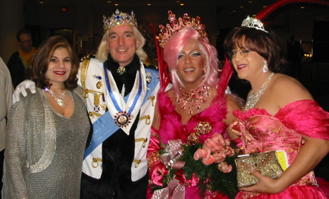 Miss Vera and Mahriluuz meet the monarchs. Emperor Mathius and Empress Lita Austin will reign for a year, but Mahriluuz was our queen for a day. She has stars in her eyes as we share a pink moment with the royals.