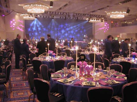 Marriott Marquis Grand Ballroom twinkles with the promise of magic to come.