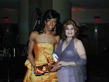 Miss Vera and the lovely Milan, one of NYC's great performers and party givers.