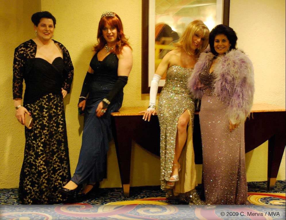 Clair Martin, Misty Madison, Lilly and Miss Vera ready for their grand entrance