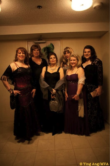 Misty, Mary Miss Vera, Lilly, Miss Deborah, Clair ready to make our entrance.