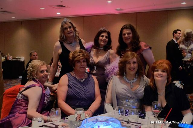 One table shot. (Back l to r): Gayle, Miss Vera and Clair. Front l to r: Charlie, Mary, Karlie  and her wife Samantha.