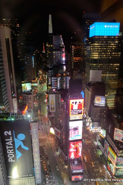 Our suite life. High above Times Square.